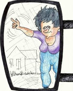 Bodil i backspegeln