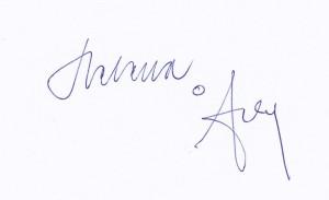 Signatur Helena o Arly