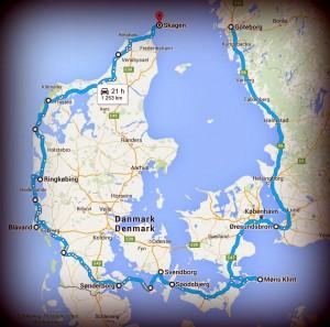 Öarna runt, Danmark